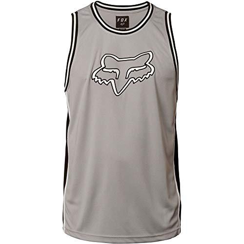 Fox Young Men's Head Bball Jersey Shirt, Steel Gray, M