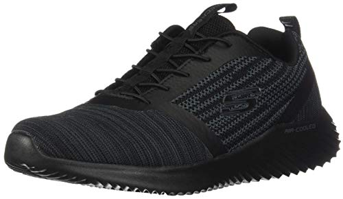 (Skechers Men's Bounder Oxford, Black/Black, Size 13.0)