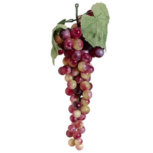 10'' Artificial Round Grape Bunch -Rose/Green (pack of 12) by SilksAreForever
