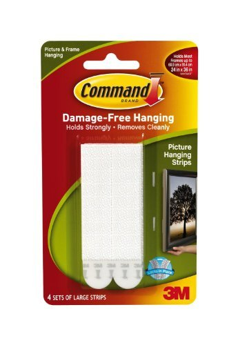 Command Large Picture-Hanging Strips, White, ()