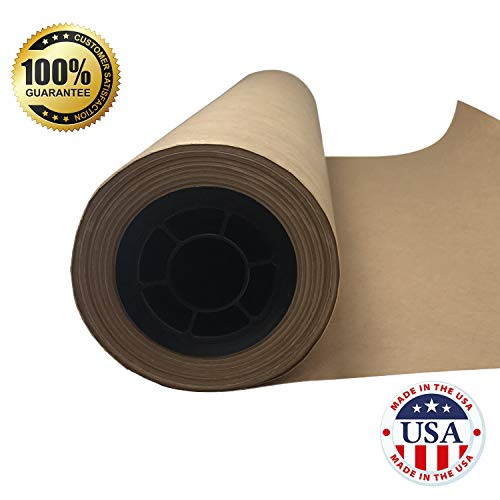 "Brown Butcher Kraft Paper Roll - 24 "" x 175' (2100"") Food Wrapping Paper for Beef Briskets - USA Made - All Natural FDA Approved Food Grade BBQ Meat Smoking Paper - Unbleached Unwaxed Uncoated Sheet by tenderlicious (Image #2)"