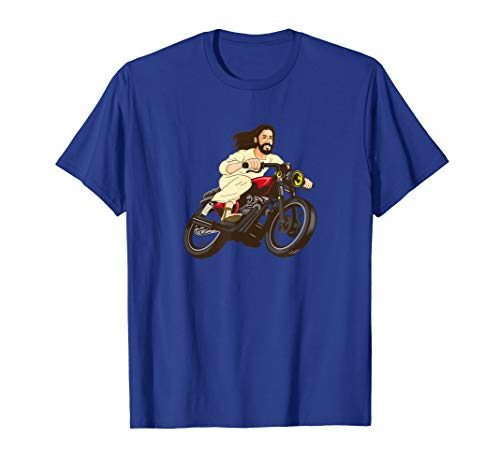 - Christ on a Motorcycle T-Shirt Funny Lord Jesus Bible Tee