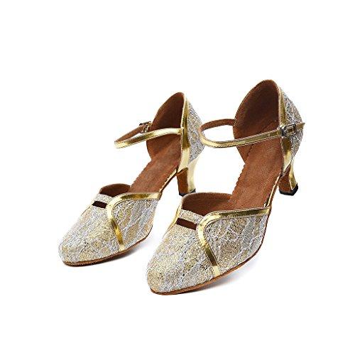 De Misu Danza Mujer Zapatillas Dorado Para TaOZapqw