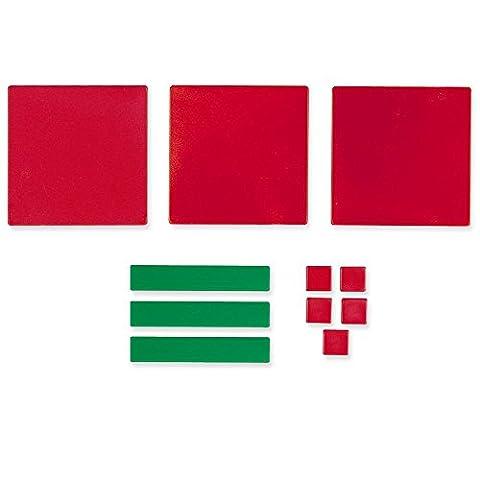 Learning Resources Algebra Tiles: Student Set (2 Pack) - Algebra Tiles Student Set