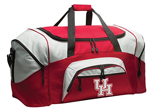 Large DELUXE University of Houston Duffel Bag UH Gym Bag by Broad Bay