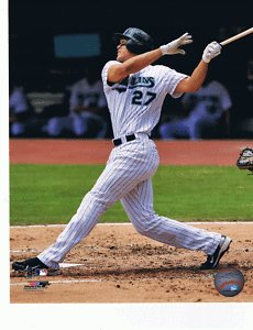 (Mike Giancarlo Stanton Unsigned 8x10 Photo Miami Florida Marlins)