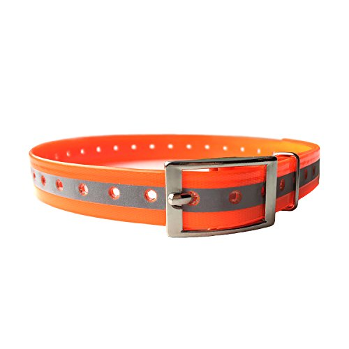 PetSpy Reflective Dog Training Collar - Safe at Night and Odor Free Adjustable and Durable, Orange