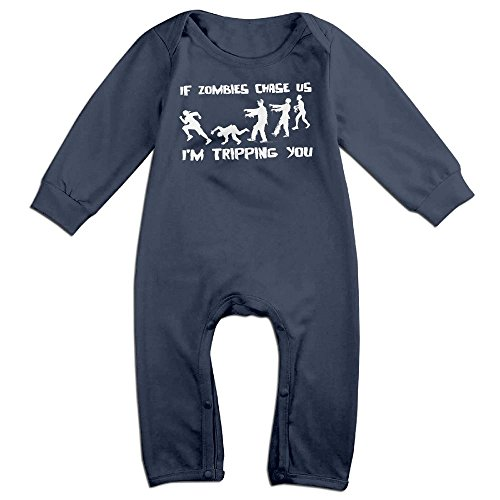 Infants Made Zombie Long Sleeve Bodysuit Baby Onesie Baby Climbing Clothes Outfits Jumpsuit For 0-24 Months Navy 18 Months