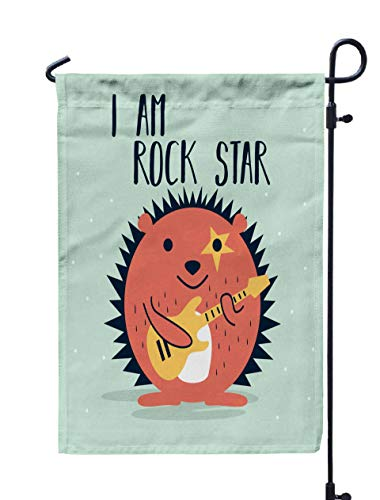 Musesh 12x18 Halloween Yard Flag,Awesome Retro Cute Hedgehog Design Tshirt Mug Bag Lunchbox Wallpaper Wrapper Poster Banner Flat Kids for Home Outdoor Decorative with Double-Sided Printing]()