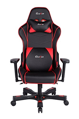 Clutch Chairz Crank Series Delta Black/White Gaming Chair (Black/Red)