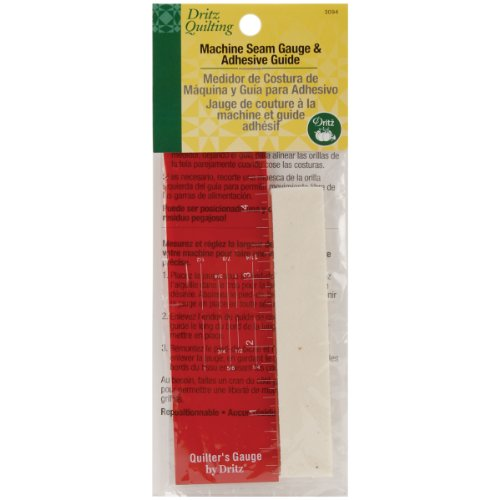 Adhesive Guide - Dritz Quilting Machine Seam Gauge and Adhesive Guide