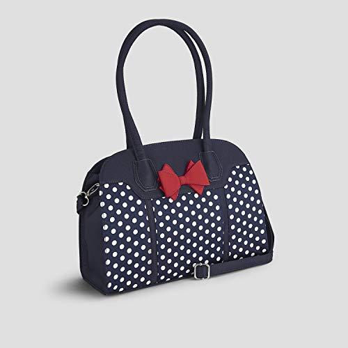 Navy Bag Spots Ruby Handle Large Shoo Women's Kobe Top xn7OPqz