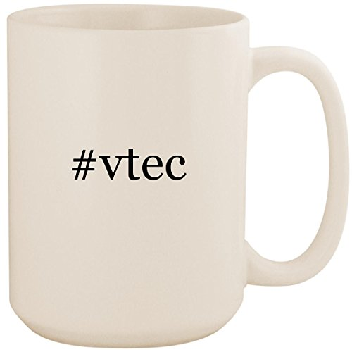 #vtec - White Hashtag 15oz Ceramic Coffee Mug Cup