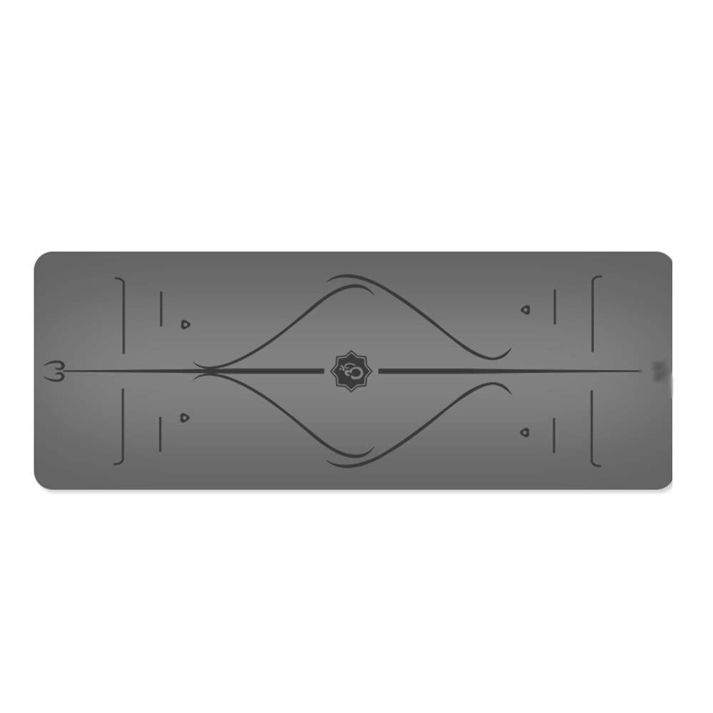 XF ヨガ マット ヨガマット - 滑り止めの天然ゴム、アライメントマーク付き、男性と女性のためのさまざまな色をご用意していますプロの初心者向けヨガフィットネスピラティスマットエクササイズマット、サイズ:183cmX68cm フィットネストレーニング (色 : ローズ) B07M6CGNYW Gray Gray
