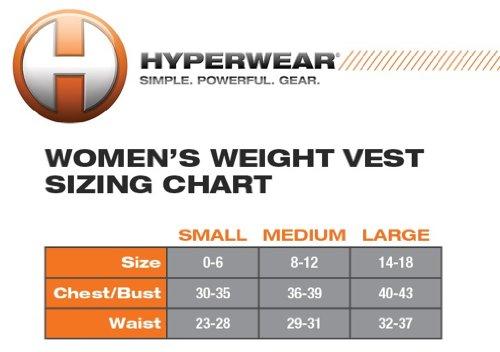 Hyperwear 5 lb. Adjustable Weight Vest, Medium, Red