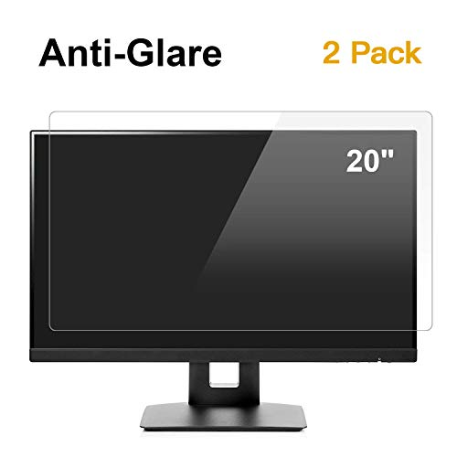 "[2 Pack] 20 inch Anti Glare(Matte) Screen Protector Compatible for All Brands of 20"" Widescreen Desktop with 16:9 Aspect Ratio Monitor [Size: 17.4"" Width x"