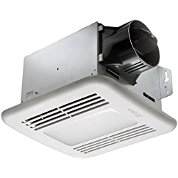 Delta Breez GreenBuilder GBR80HLED 80 CFM Exhaust Bath Fan/Dimmable LED Light, Dual Speed and Adjustable Humidity Sensor