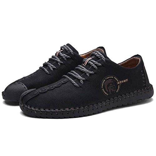 COOLCEPT Uomo Boots 23 Basso Black Tacco Moda Scarpe Mocassini Short PTxAPr