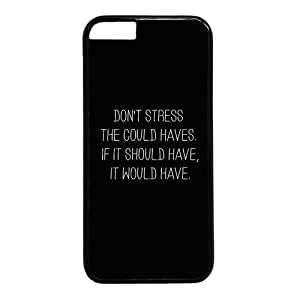 """Inspirational Quote Don't Stress Case for iPhone 6 Plus (5.5"""") PC Material Black"""
