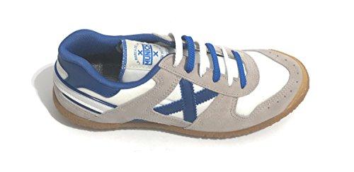 Camoscio E Bianco Munich U18mu02 Grigio Scarpe Unisex Goal Tessuto Blu Sneaker BSIwRzqY