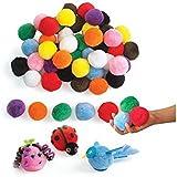"Colorations Jumbo 2"" Pom-Poms - 50 Pieces (Item # LGPOMS)"