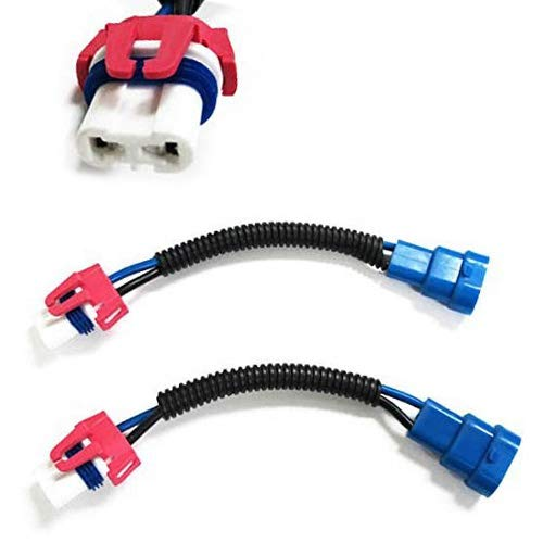 3 H10 Heavy Duty Ceramic Wiring Harness Sockets For Headlights or Fog Lights ()