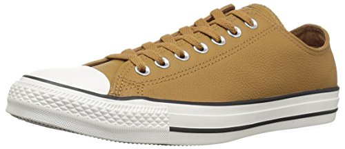 Converse Chuck Taylor All Star Tumbled Leather Low TOP Sneaker, Burnt Caramel, 11 M US