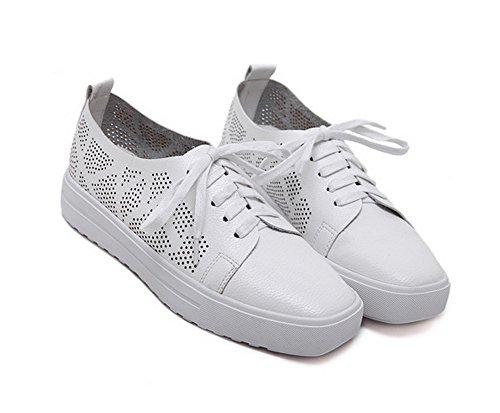1To9 Sandales Plateforme Femme Blanc, 38.5 EU, MMSG00327