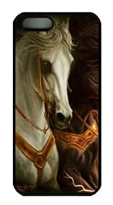 3D horse 3 spec iphone 5 case PC Black for Apple iPhone 5/5S by mcsharks