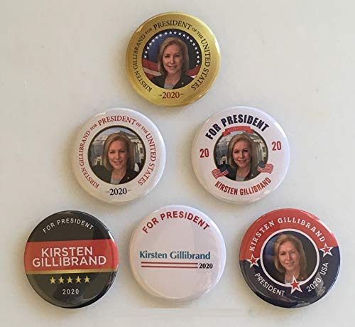 - Kirsten Gillibrand for President Set of 6 Campaign Buttons (GILLIBRAND-All)