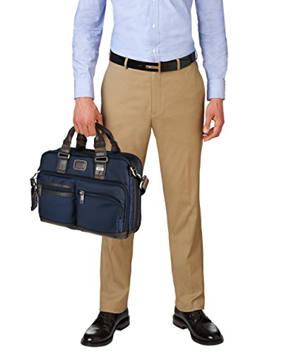 Tumi Bolso Porta Pc Andersen Slim Commuter Brief Azul Marino 37 cm