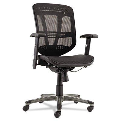 Alera ALEEN4218 Eon Series Multifunction Wire Mech, Mid-Back Suspension Mesh Chair, Black