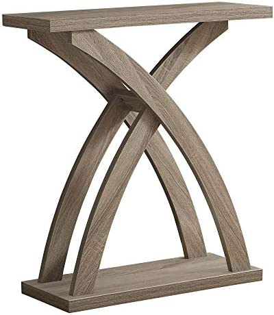 Monarch Specialties ACCENT TABLE One Size DARK TAUPE