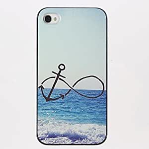 Infinity Anchor Pattern PC Hard Case for iPhone 4/4S