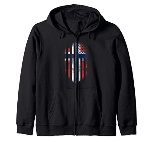 American Grown with Norwegian Roots - Norway Zip - Hoodie Heritage American