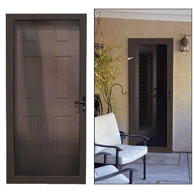 Guarda Bronze Finish 36 X 80 Left Hinged Slimline Security Screen Door