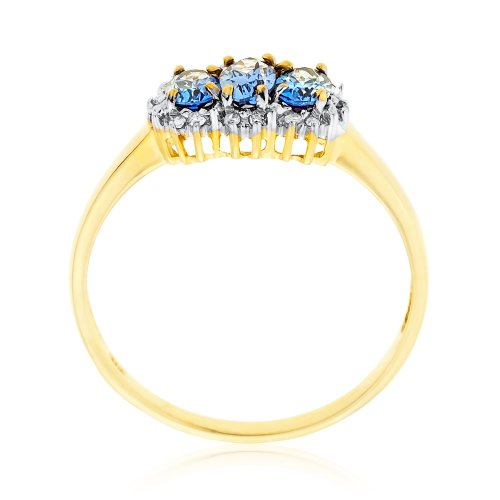 Bague - A94R13713 - Femme - Or jaune (9 carats) 1.7 Gr - Tanzanite