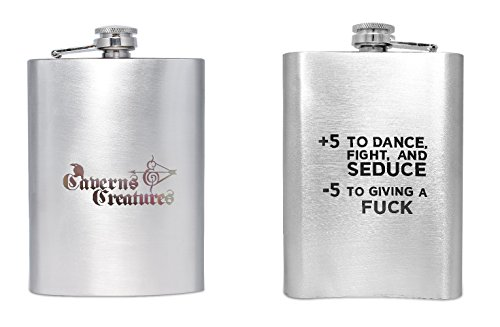 Caverns & Creatures Hip Flask