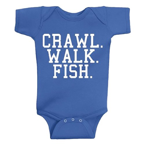 Crawl Walk Fish Baby Onesie product image