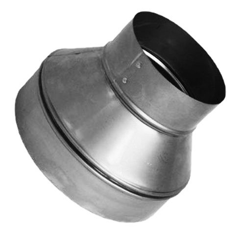 Speedi-Products SM-RDP 54 5-Inch by 4-Inch Round Galvanized Plain Reducer (5 Inch Duct Y)