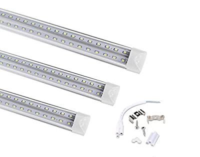 20pack-T8 1.2m 4ft V Shape LED integrated Tube 36w smd2835 192leds Integrated 6500k Clear lens with 2pack of 1m connector with US switch free
