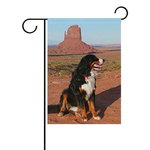 "LEISISI Bernese Mountain Dog Garden flag 12""X18"" Two Sided Y"
