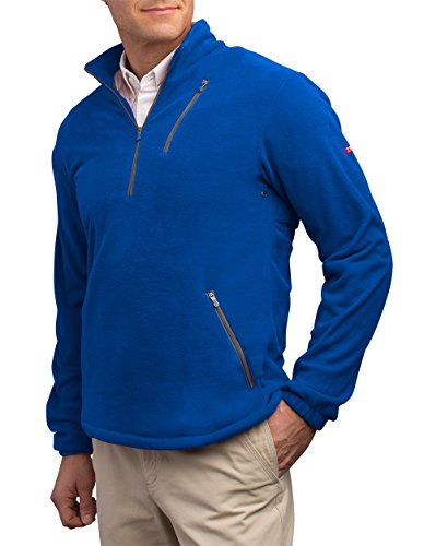 SCOTTeVEST Microfleece Pullover - 8 Pockets - Comfortable Travel Clothing BLU L