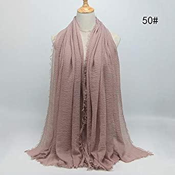 HITSAN INCORPORATION Women Maxi Solid Cotton Scarf Bubble Plain ... 6d9e56edc83