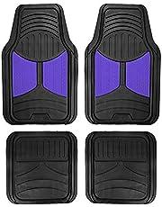 FH Group F11313BLUE Indigo Blue Rubber Floor Mats Universal Fit (Blue Indigo Color Full Set Trim to Fit Floor Mats)