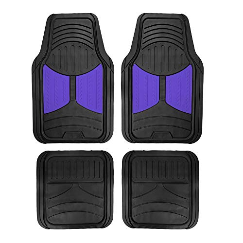 2013 Ford Police Car - FH Group F11313BLUE Indigo Blue Rubber Floor Mats Universal Fit (Blue Indigo Color Full Set Trim to Fit Floor Mats)
