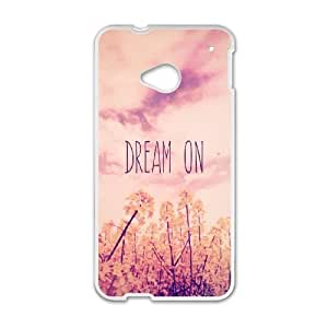 HTC One M7 Cell Phone Case White_Dream On Eqoyq