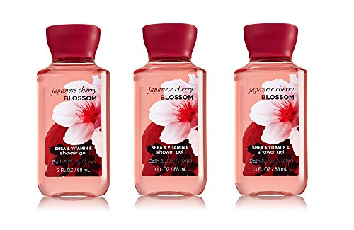 Bath & Body Works Japanese Cherry Blossom Shower Gel 3 Oz - Travel Size Bottles (Pack of 3)