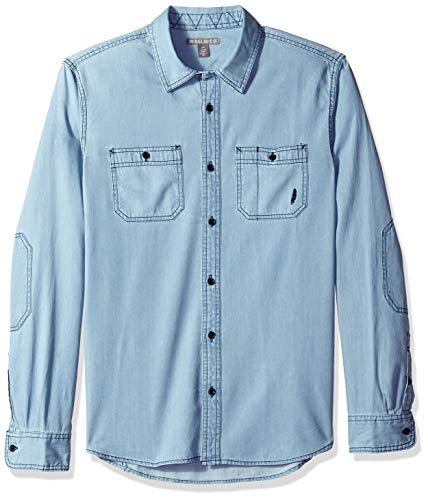 Michael Bastian Men's Signature Denim Utility Shirt, Bleach, Extra Large from Michael Bastian