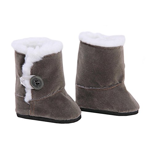 AmVolt Gray Suede Style Boots Toy Doll Clothes, Brown